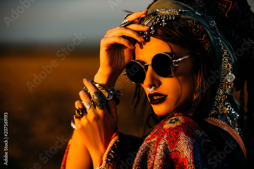 Poster Gypsy magnificent boho style