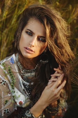 Poster Gypsy beautiful bohemian girl
