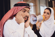 Arab Wife At Reception Of Ther...
