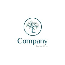 Letter L Tree Nature Creative Business Logo