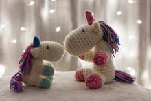 Crochet Unicorn Family