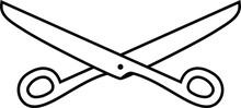 Black White Scissors Illustration