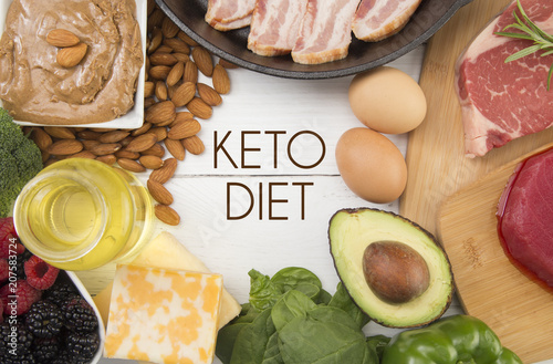 Fototapeta Various Foods that are Perfect for the Keto Diet obraz