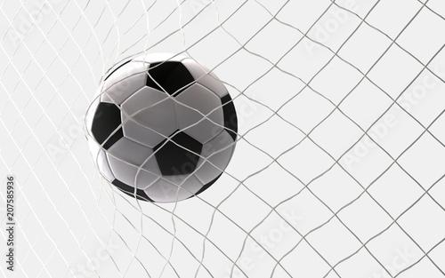 Fényképezés Fußball Ball Tor 3d rendering