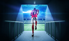Soccer Player Entering The 3d ...