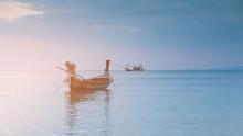 Small Fishing Boat Over Seacoa...