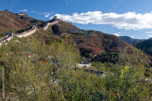 Staande foto Chinese Muur 中国北京郊外に延びる万里の長城中国4