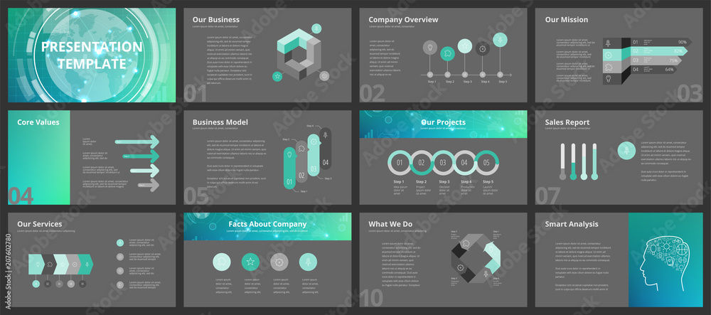 Fototapeta Business presentation templates