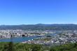 五台山展望台から工石山を眺める 春