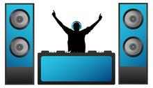 DJ In The Headphones Plays Mus...