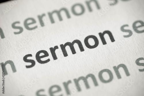 word sermon printed on paper macro Tapéta, Fotótapéta