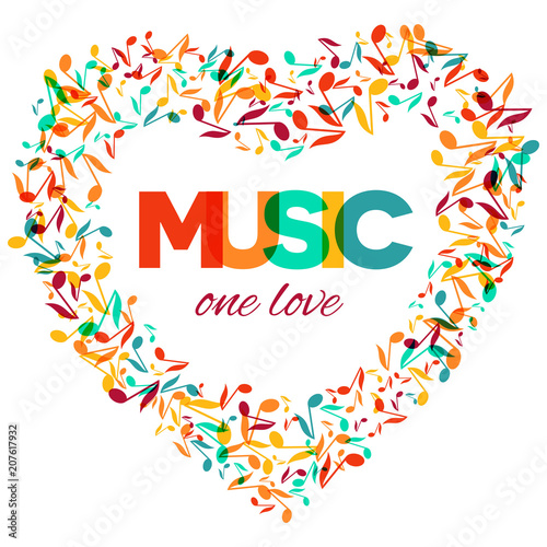 Colorful Music Quote Notes Background Musical Festival Poster