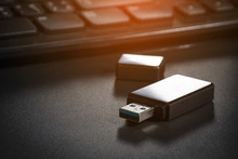USB Flash Drive On Case Comput...