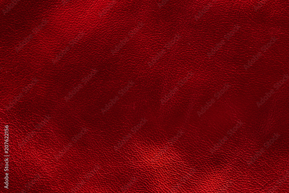 Fototapety, obrazy: Glowing metallic red leather texture background. small grain