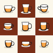 coffee cup logos icon design