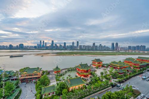 Fototapeta Tengwang Pavilion,Nanchang,traditional, ancient Chinese architecture, made of wood. obraz na płótnie