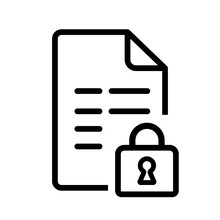 Vector File Icon With Locked Security Padlock Symbol