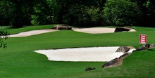 Golf Course Sand Traps Backdrop