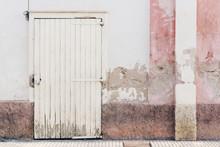 House Grunge Facade Pink White...