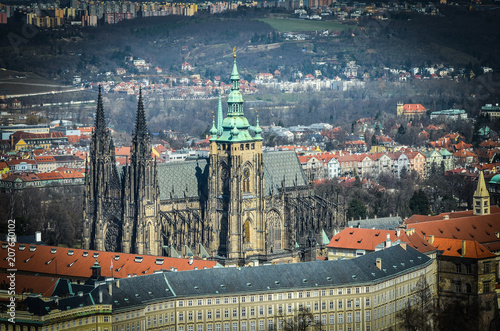 Staande foto Praag streets of Prague - panoramic view