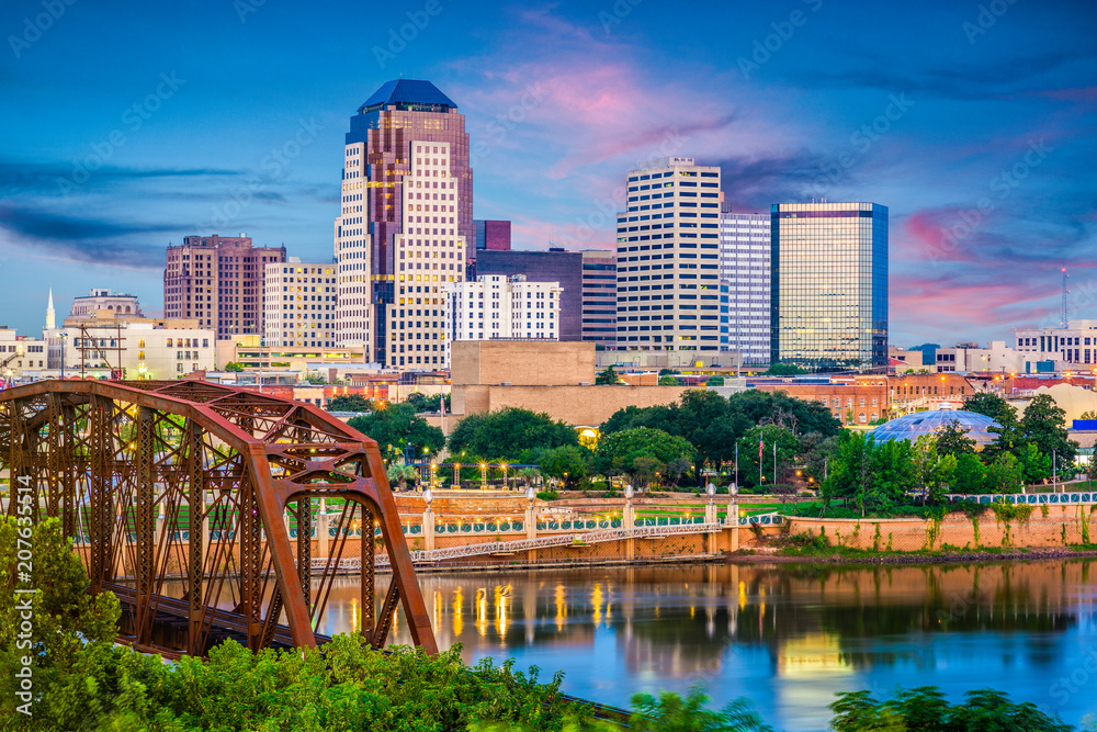 Fototapety, obrazy: Shreveport, Louisiana, USA Skyline