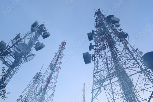 Foto telecommunication mast TV antennas wireless technology