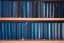 Many Bibles In Book Shelf - Bi...
