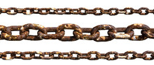 Old Rusty Chain Isolated On Wh...