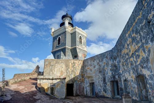 Keuken foto achterwand Historisch geb. El Morro Fort. San Juan, Puerto Rico