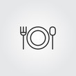 food icon vector line