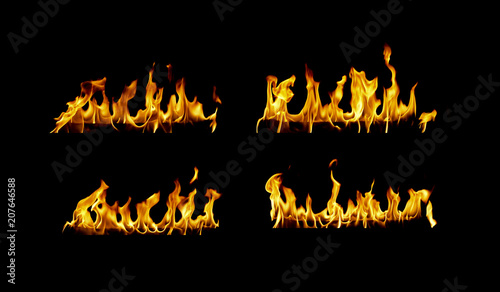 In de dag Vuur / Vlam Fire flames collection