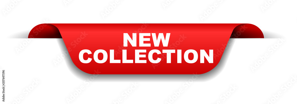 Fototapeta red banner new collection