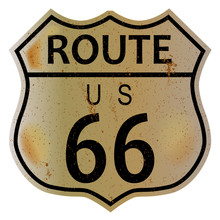 Old Route 66 Highway Sign