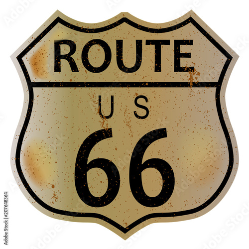 Photo Old Route 66 Highway Sign