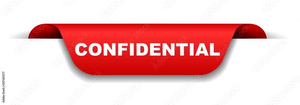 Fototapeta red banner confidential