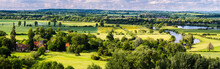 Panorama Of Wittenham Clumps.