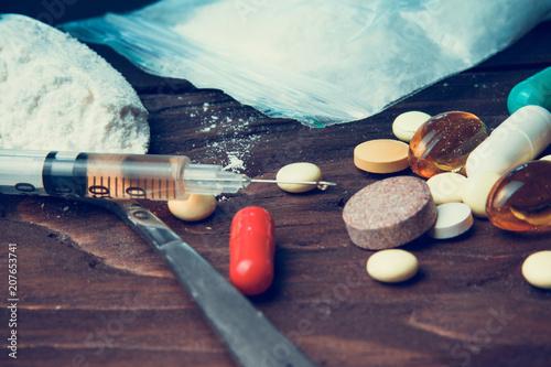 Carta da parati  Drug concept