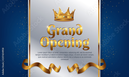 grand opening template banner poster lettering design element for