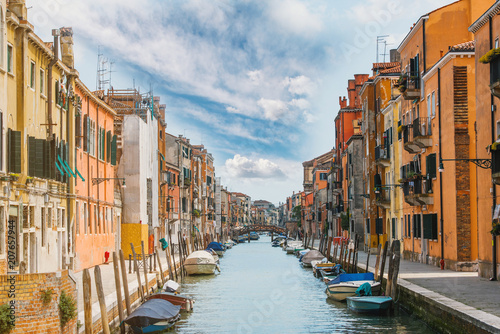 Fototapety, obrazy: Venice landscape - beautiful and colorful buildings on a canal