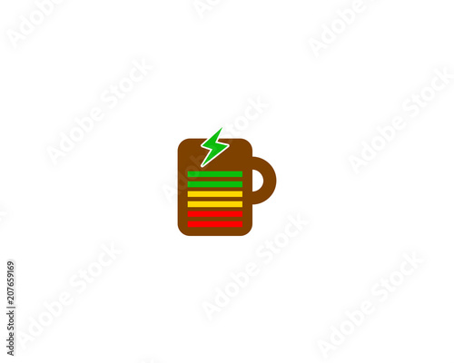 Staande foto Thee recharge coffee logo