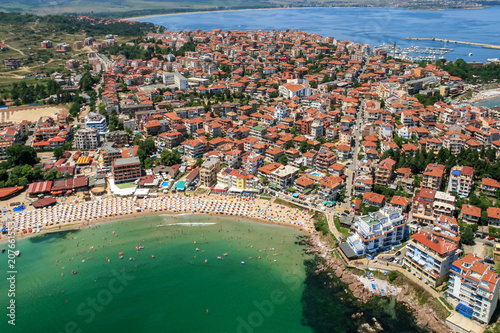 Poster Cote Aerial view of Town of Sozopol, Burgas Region, Bulgaria