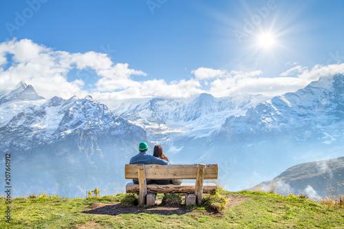 Enstpannen im Urlaub in den Schweizer Alpen, Kanton Bern, Zermatt