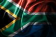 canvas print picture - South Africa Silk Satin Flag