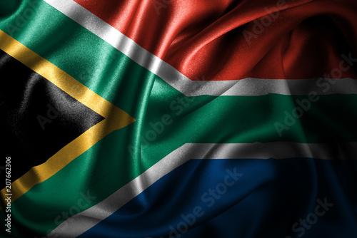 canvas print motiv - intriceight : South Africa Silk Satin Flag