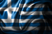 Greece Silk Satin Flag