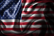 canvas print picture United States Silk Satin Flag