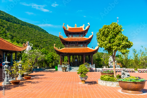 Hu Quoc Pagoda, Beautiful buddhist temple, Phu Quoc Island, Vietnam