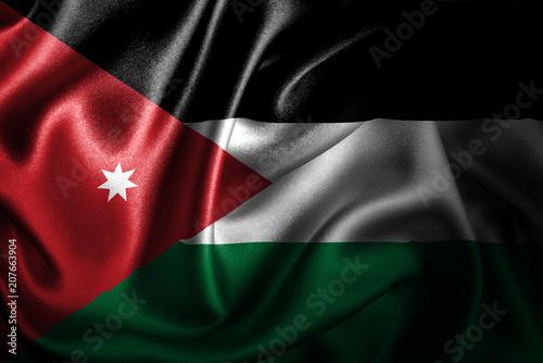 Fotografie, Obraz  Jordan Silk Satin Flag