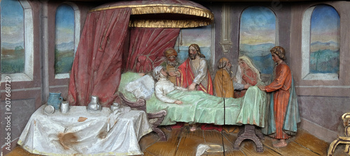 Healing the mother of Peter's wife altarpiece in the church of Saint Matthew in Wallpaper Mural