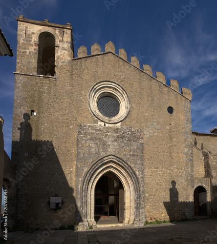 Poster Monument Saint Tiago church facade at Palmela
